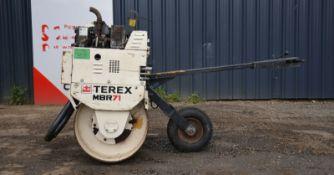 Terex mbr71 roller 2013 single drum
