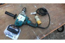 Makita 13mm drill, 110v, Chuck key missing (A713552)