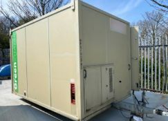 12ft 6 man towable welfare unit - AJC with generator