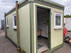 20ft site office canteen with office