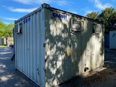 13ft 2 + 1 male and female toilet block container