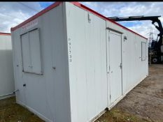 24ft site office canteen container cabin