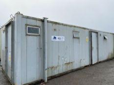 32ft 6 + 1 Male & Female Toilet Block Site Cabin Welfare Unit Wc Block Container.