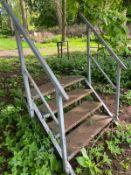 4 tread metal steps