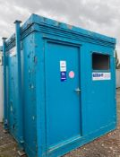 8ft x 8ft 2 bay shower block site cabin container