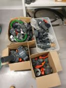 Various PVC pipe fittings and valves