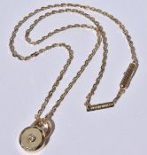 Boucheron Diamond Pendant necklace 18k
