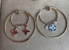Louis Vuitton Diamond Earrings