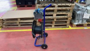 Band strapping trolley