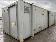 32ft 6 + 1 Male & Female Toilet Block Site Cabin