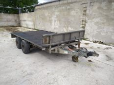 Ifor Williams LM 126 G Flat Bed Trailer.