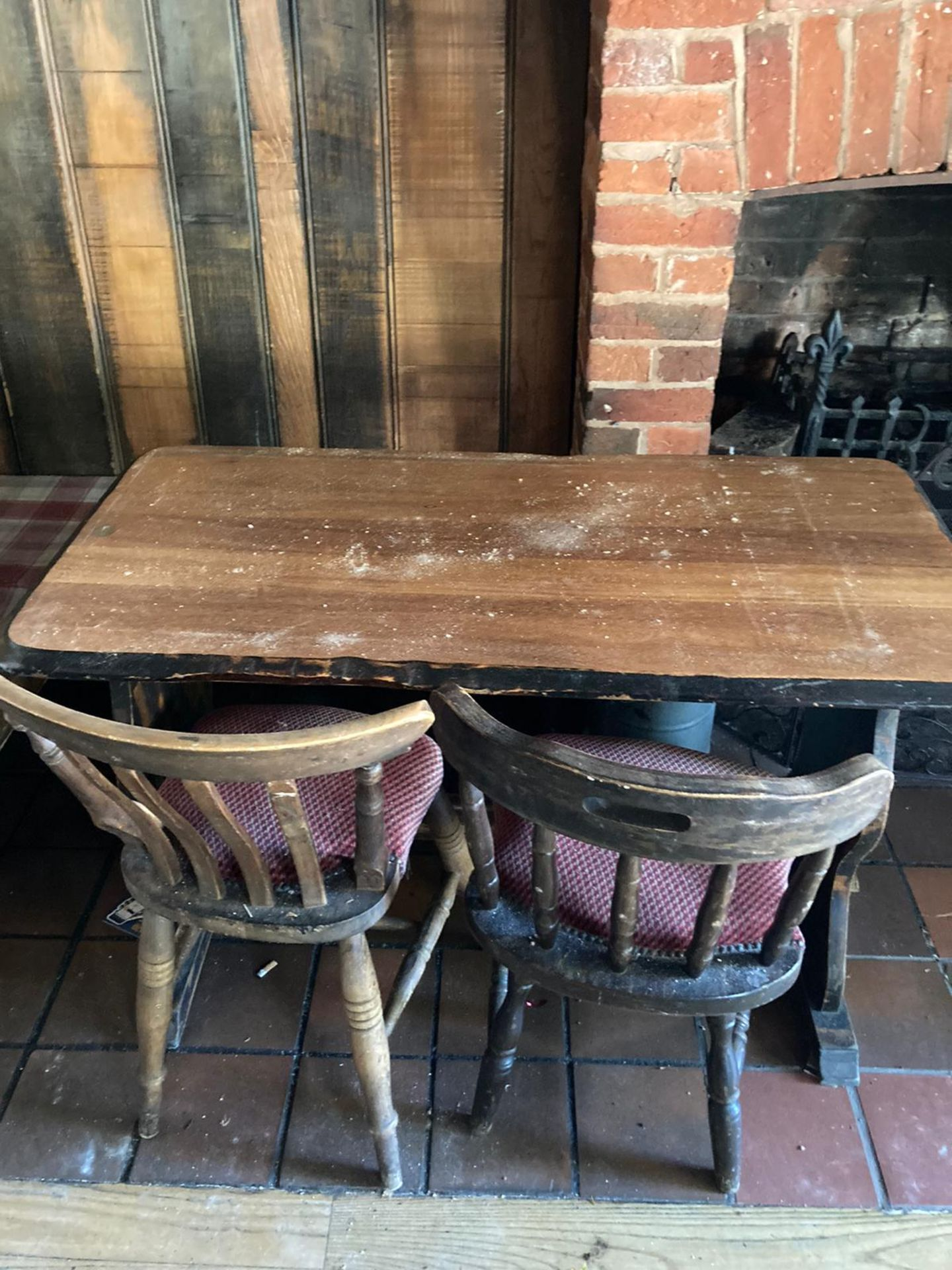 Vintage Pub tables and chairs - Image 7 of 10