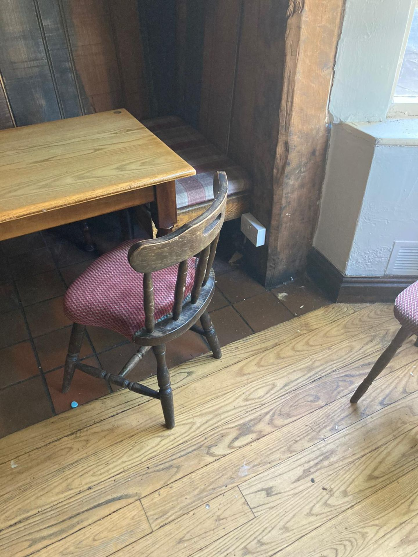 Vintage Pub tables and chairs - Image 8 of 10