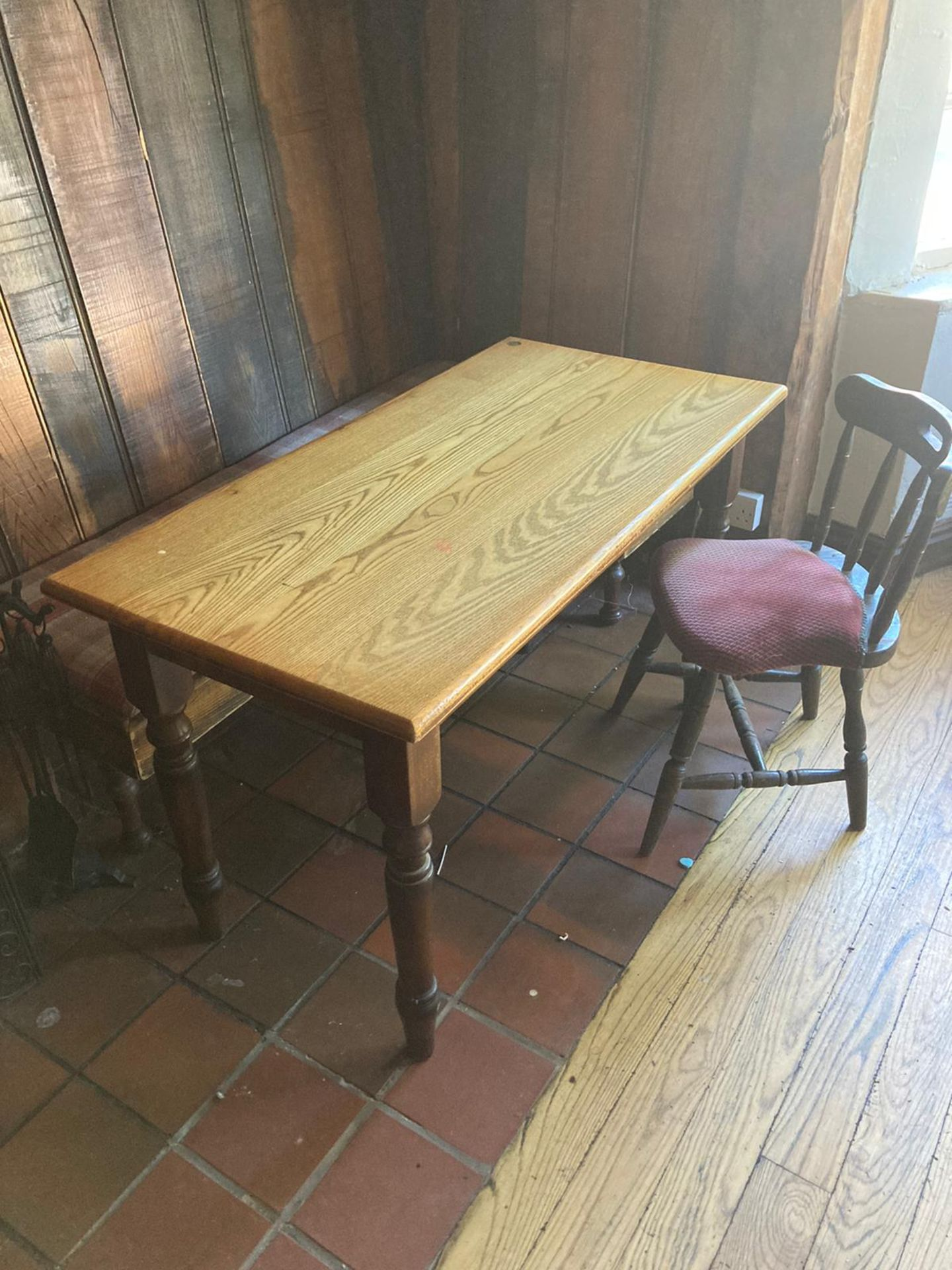 Vintage Pub tables and chairs - Image 2 of 10