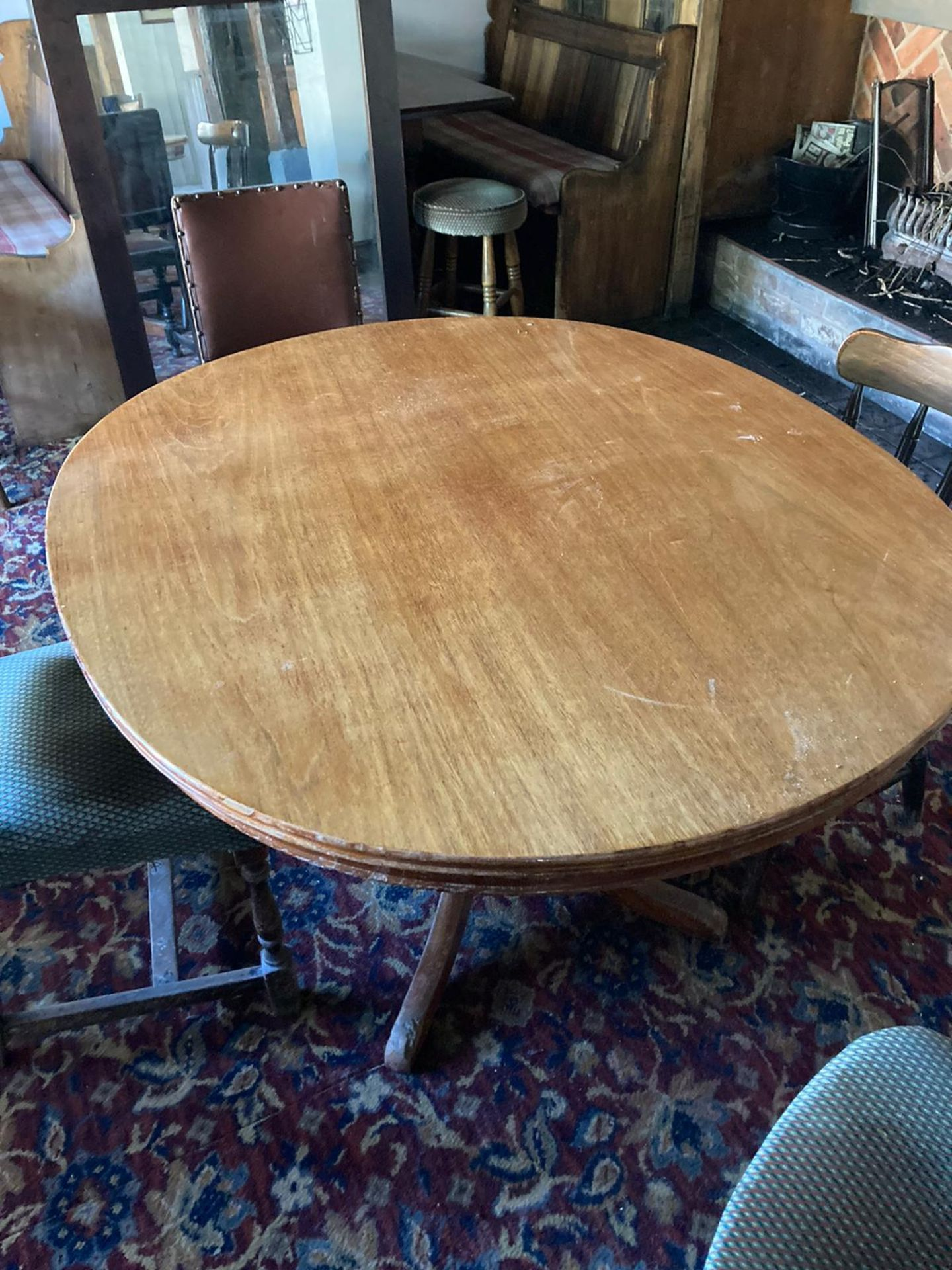 Vintage Pub tables and chairs - Image 10 of 10