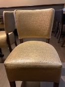 Golden Chairs custom made Set of 24