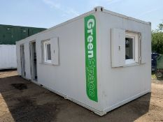 ECO Anti Vandal Steel Portable Welfare Unit Drying Room Complete With Generator 28ft x 9ft