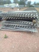 Galvanised Fence Panels x 8