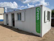 ECO Welfare Unit Site Cabin Canteen Generator Toilet Portable Anti Vandal Steel
