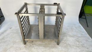 Stainless steel prep shelving unit