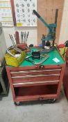 Tool box and value spring compressor