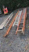 Ladders job lot, fibreglass pole ladder, wooden la