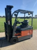 Toyota 1.5 Tonne Electric forklift truck Container Spec