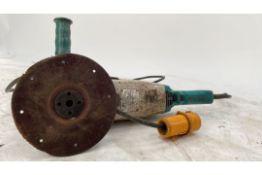 Blue angle grinder