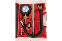 Petrol engine compression test kit