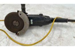 Black angle grinder