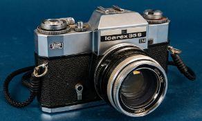 ICAREX 35 S - TM Fotoapparat, klare Optik, löst aus, Carl Zeiss Objektiv Ultron