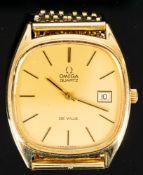 Zeitlos elegante OMEGA DE VILLE Herrenarmbanduhr der 1970er/80er Jahre. Cal. 13