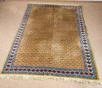 """Machilipatnam """"Teppich"""", antik, Südostasien, Ende 19. Jhd. Wolle auf Baumwolle."""