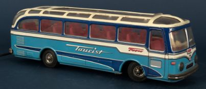 """TOURIST - """"TIPPCO"""" Bus, lithographierter Dekor, Blech, Mitte 20. Jhd., Made in"""