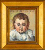 """""""CHRISTIANE"""" - Kleinformatiges Gemälde, Öl auf Leinwand, des Adolf Schlawing (1"""