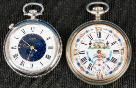 """2x """"AERO WATCH"""" - Neuchatel; Metallgehäuse, 1x mit Wecker; beide Uhrwerke ungep"""