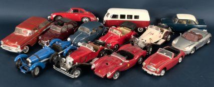 13teiliges Konvolut unterschiedlicher Auto-Modelle, Maßstab 1:18 bzw. 1:17, ver