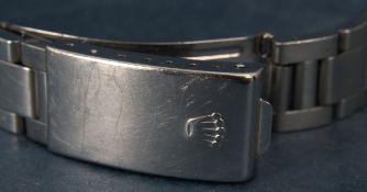 Rolex-Gliederarmband mit Faltschließe der wohl 1960er/70er Jahre, Stahl. Max. G
