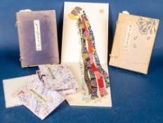 """4teiliges Konvolut """"Japan"""" bestehend aus 2 Büchern """"We Japanese"""" (späte 1930er"""