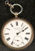 """THE LUDGATE WATCH"" schwere offene Herrentaschenuhr von J.W. BENSON, London. We"