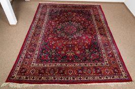 Mesched, iranischer Orientteppich, ca. 266 x 385 cm, guter, unperfekter Erhalt.