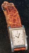 "Zeitlos elegante ""BAUME & MERCIER"" Unisex-Armbanduhr, poliertes rechteckiges Ed"