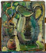 """Stilleben mit blauem Krug"" - um 1900/20, Gemälde, Öl auf Leinwand, ca. 45 x 38"