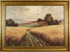 """""""Sommertag auf Rügen - Jassmunder Bodden"""" - Gemälde, Öl auf Leinwand, unten rec"""