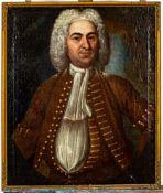 "Borockes Herrenporträt des ""T. POLAC - CONS. OF SISCAL 1728"" (verso auf der Lei"