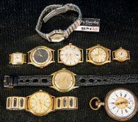 9teiliges Konvolut versch. Uhren, bestehend aus 8 versch. Armbanduhren & einer