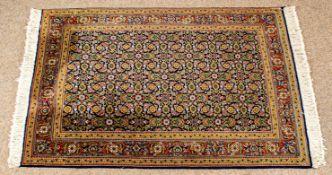 Isfahan Teppichbrücke auf Seide mit Hbati-Muster, ca. 146 x 97 cm, Iran Ende 20