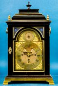 Antike engl. Bracket-Clock des Uhrmachers Nicholas Lambert, um 1760/70, mit Carillon-Spielwerk; ung