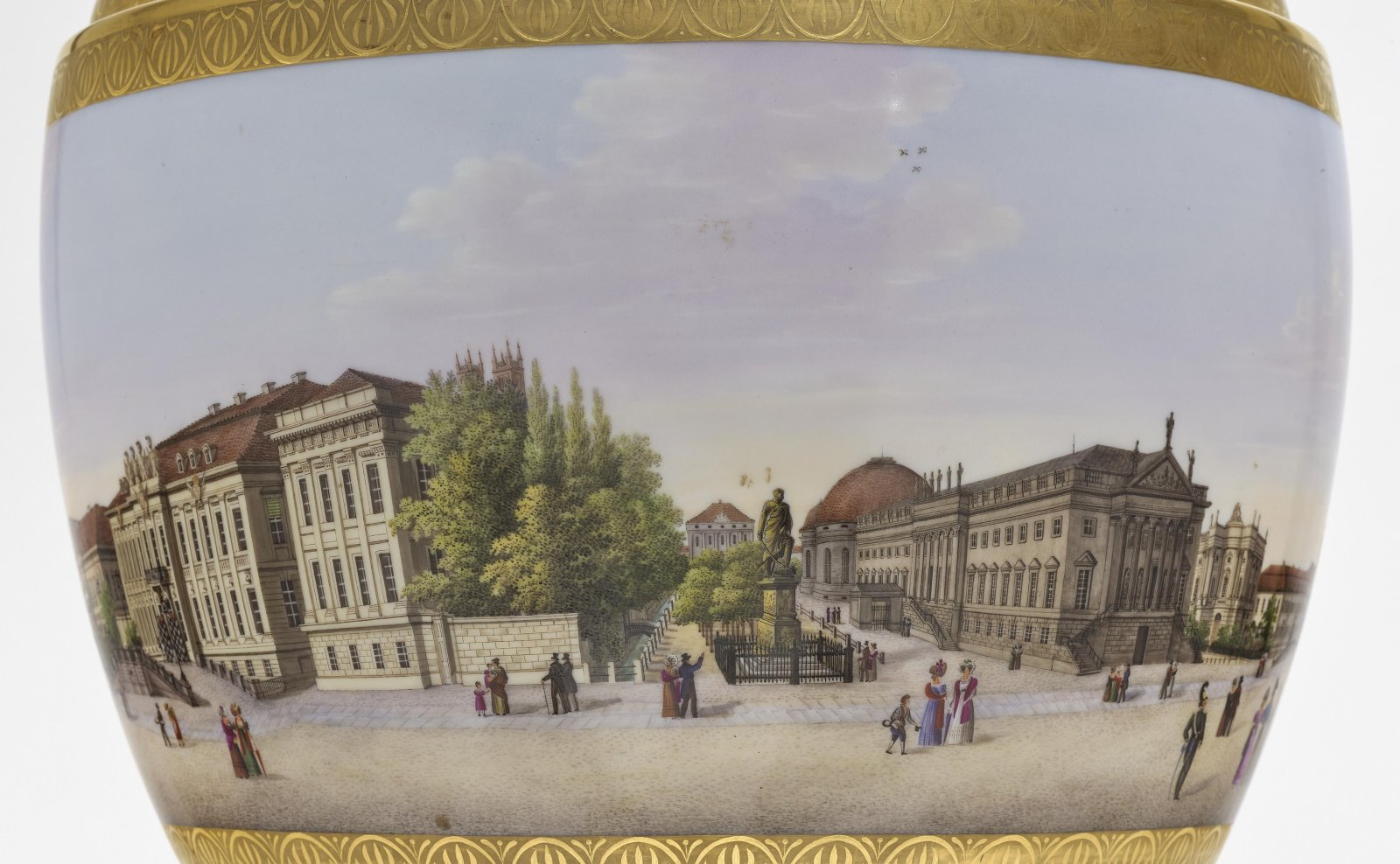 """A panoramic vase with a prospect of the street """"Unter den Linden"""" in Berlin - Image 2 of 10"""
