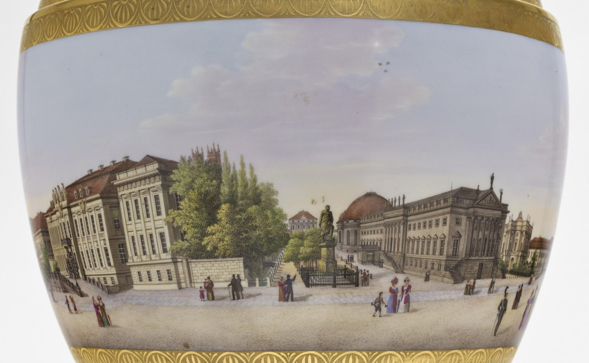 """A panoramic vase with a prospect of the street """"Unter den Linden"""" in Berlin - Bild 2 aus 10"""